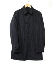 BURBERRY BLACK LABEL(バーバリーブラックレーベル)の古着「リバーシブルステンカラーコート」|ブラック
