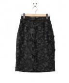 Kate Spade(ケイトスペード)の古着「フリルフラワースカート」|ブラック