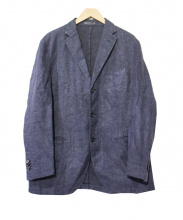 BOGLIOLI(ボリオリ)の古着「リネンコットンテーラードジャケット」|ブルー