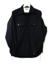 SUNNY SPORTS(サニースポーツ)の古着「メルトンCPOシャツジャケット」|ダークネイビー