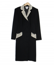 Christian Dior(クリスチャンディオール)の古着「レース装飾ウールコート」