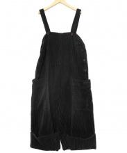 Lilith(リリット)の古着「太畝コーデュロイオーバーオール」|ブラック
