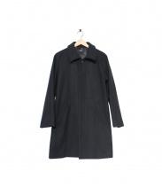 A.P.C.(アーペーセー)の古着「メルトンウールステンカラーコート」|ブラック