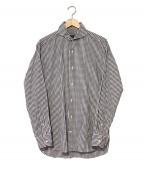 GUY ROVER(ギローバ)の古着「ギンガムチェックホリゾンタルカラーシャツ」