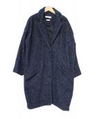 ISABEL MARANT ETOILE(イザベルマランエトワール)の古着「モヘヤアルパカ混ツイードチェスターコート」|ネイビー