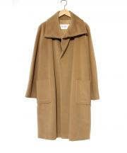 MaxMara(マックスマーラ)の古着「カシミヤ混ボタンレスガウンコート」|ブラウン
