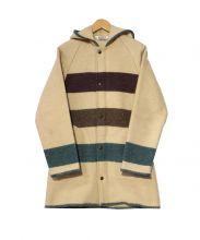 Woolrich(ウールリッチ)の古着「ヴィンテージブランケットボーダーコート」