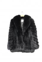 SAGA FOX(サガフォックス)の古着「グルーピングフォックスファーショートコート/ジャケット」|ブラック