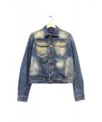 DSQUARED2(ディースクエアード)の古着「パッチ&ダメージ加工デニムジャケット」|ブルー