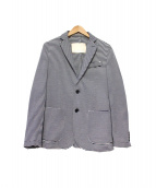 P.M.D.S(ピーエムディーエス)の古着「ストレッチボーダーテーラードジャケット」