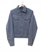45rpm(45アールピーエム)の古着「ヒッコリートラッカージャケット」|ブルー