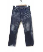 LEVIS VINTAGE CLOTHING(リーバイス ヴィンテージ クロージング)の古着「USED加工デニムパンツ」|ブラック
