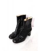 CHANEL(シャネル)の古着「フロントココマークショートブーツ」|ブラック