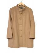 Leilian(レリアン)の古着「アンゴラウールスタンドカラーコート」|ブラウン