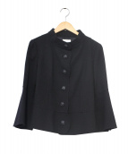 mila schon BLUE LABEL(ミラ ショーン ブルーレーベル)の古着「スタンドカラーウールセットアップ」|ブラック