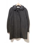 MARNI(マルニ)の古着「ニット襟ウールコート」|グレー
