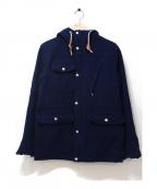 Battenwear(バテンウェア)の古着「メルトンフーデッドジャケット」 ネイビー