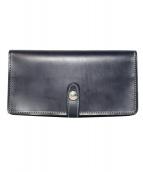 GLENROYAL(グレンロイヤル)の古着「フラップ付長財布」|ネイビー