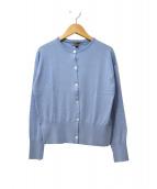 JOHN SMEDLEY(ジョンスメドレー)の古着「シーアイランドコットンカーディガン」|ブルー