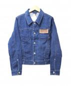 YANUK(ヤヌーク)の古着「ストレッチデニムジャケット」|ブルー