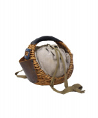 ebagos(エバゴス)の古着「レザーハンドル紅籐カゴバッグ」