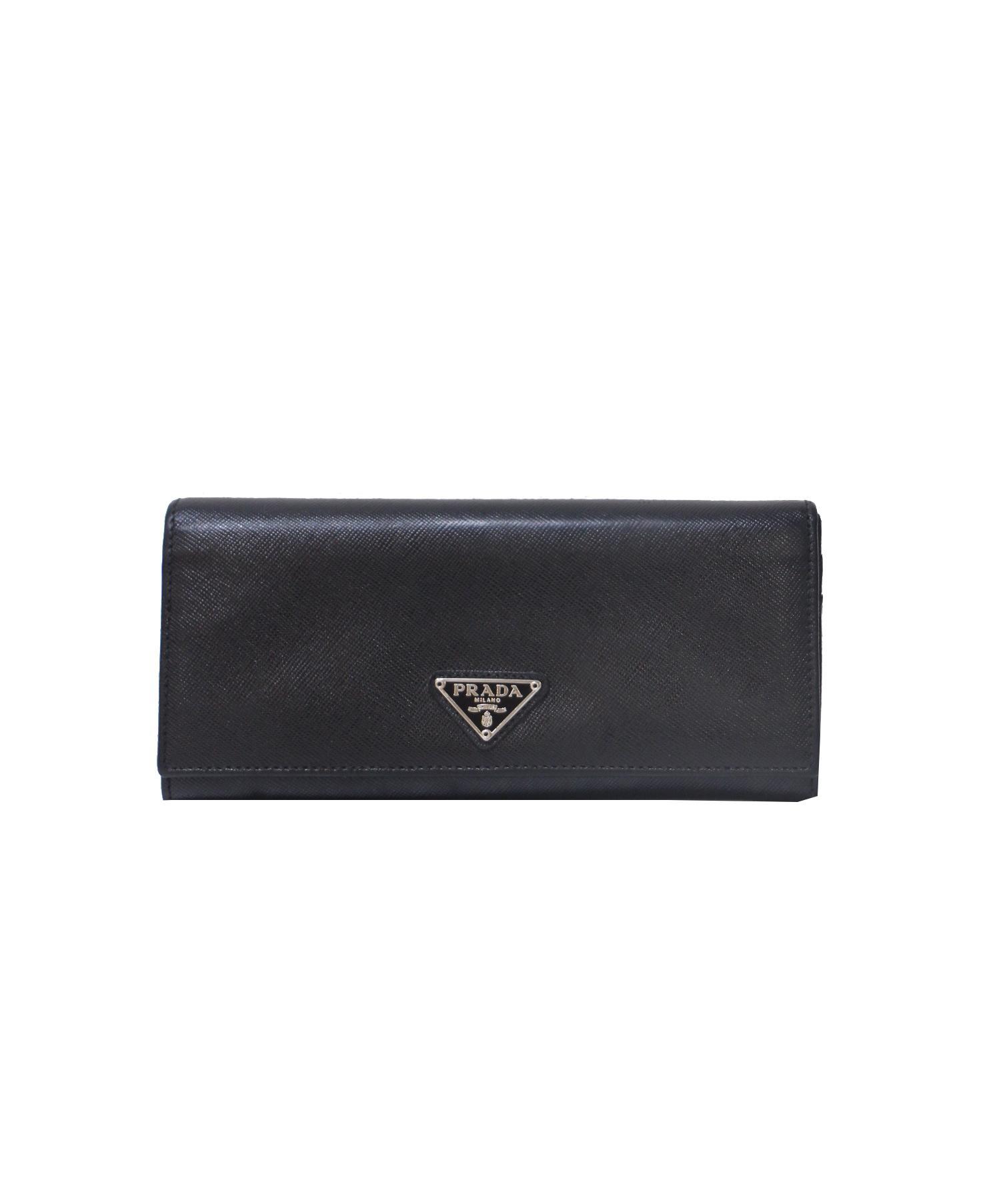 new style 0579f 167c7 [中古]PRADA(プラダ)のレディース 服飾小物 レザーロングウォレット/長財布