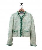 MS GRACY(エムズグレイシー)の古着「スプリングツイードノーカラージャケット」