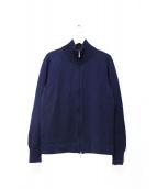 CRUCIANI(クルチアーニ)の古着「スタンドリブニットジャケット」|ネイビー