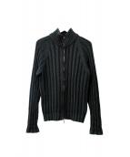 CRUCIANI(クルチアーニ)の古着「リブ編みニットジャケット」|カーキ