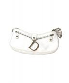Christian Dior(クリスチャン ディオール)の古着「レザーハンドバッグ」|ホワイト