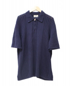 HERMES(エルメス)の古着「ハーフジップニットポロシャツ」|ネイビー