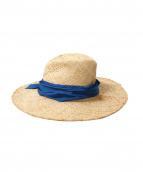 LOLA HATS(ローラハッツ)の古着「ラフィアハット」|ブラウン