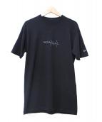 YOHJI YAMAMOTO×NEW ERA(ヨウジヤマモト×ニューエラ)の古着「反転ロゴ刺繍Tシャツ」|ブラック