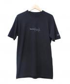 YOHJI YAMAMOTO×New Era(ヨウジヤマモト×ニューエラ)の古着「反転ロゴ刺繍Tシャツ」 ブラック