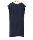 DUAL VIEW(デュアルビュー)の古着「サイドライン装飾カットソーワンピース」 ネイビー