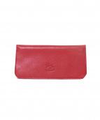 IL BISONTE(イルビゾンテ)の古着「バケッタレザーロングウォレット/長財布」|レッド
