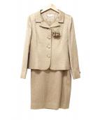 YUKI TORII(ユキトリイ)の古着「フォーマルセットアップ/スカートスーツ」|ベージュ