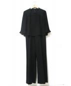 TOKYO SOIR(トウキョウ ソワール)の古着「ブラウスセットアップフォーマルスーツ」|ブラック