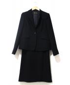 TOKYO SOIR(ソワール)の古着「セットアップフォーマルスカートスーツ」|ブラック
