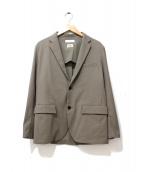 BEAUTY&YOUTH(ビューティーアンドユース)の古着「ストレッチドレープテーラードジャケット」|ベージュ