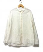plantation(プランテーション)の古着「織り柄シャツ」 ホワイト