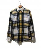 BLACK FLEECE BY Brooks Brothers(ブラックフリース バイ ブルックスブラザーズ)の古着「USA製チェックボタンダウンシャツ」|イエロー