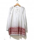 TABASA(タバサ)の古着「エスニック刺繍チュニックブラウス」 ホワイト