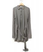 Max Mara(マックスマーラ)の古着「ウェストリボンプルオーバードレープシャツ」|グレー