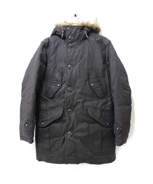 RRL(ダブルアールエル)RRL (ダブルアールエル) オイルドコットンN-3Bダウンコート ダークグレー サイズ:XS Washington Down Jacket(ワシントンダウンジャケット)の古着・服飾アイテム