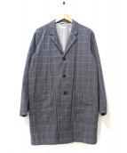 STEVEN ALAN(スティーヴンアラン)の古着「ウィンドウチェックショップコート」|グレー