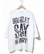 doublet(ダブレット)の古着「COMPRESSED SLOGAN T-SHIRT」|ホワイト