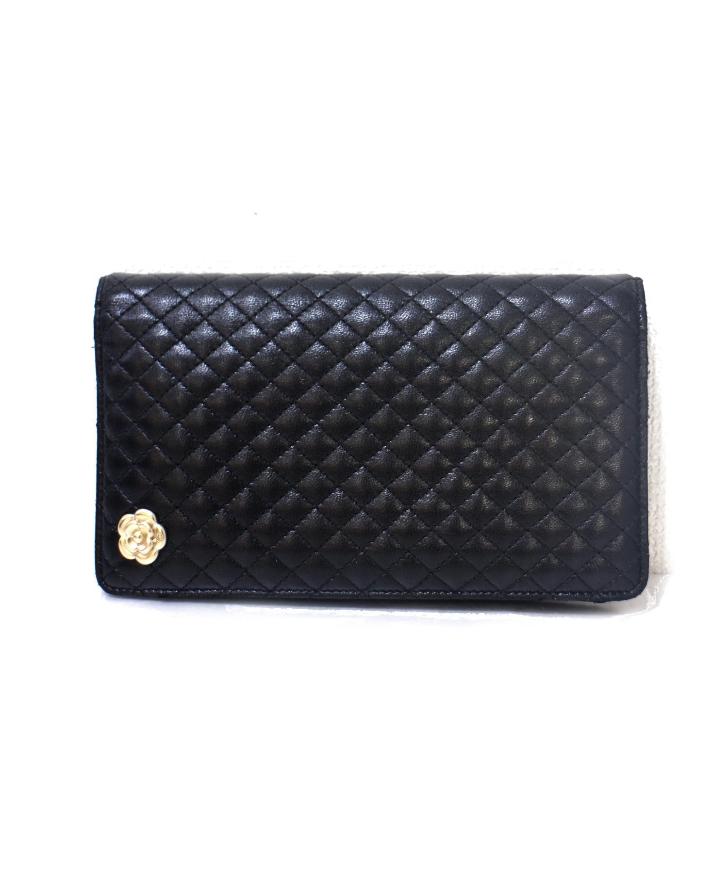 san francisco dc781 cba3a [中古]CHANEL(シャネル)のレディース 服飾小物 カメリアモチーフレザー長財布