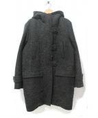 DUAL VIEW(デュアルビュ)の古着「モヘア混ボアフーデッドコート」|グリーン