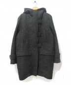 DUAL VIEW(デュアル ヴュー)の古着「モヘア混ボアフーデッドコート」 グリーン